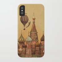 moscow iPhone & iPod Cases featuring Trip to Moscow by Terry Fan