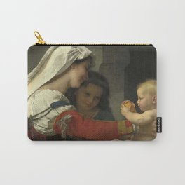"""William-Adolphe Bouguereau """"Admiration maternelle - le bain"""" Carry-All Pouch"""