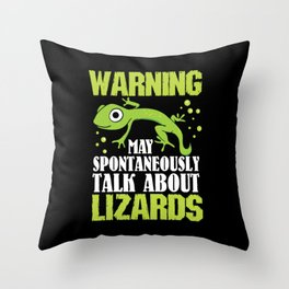 Bearded Dragon T Shirt I lizard gecko iguana gift Throw Pillow