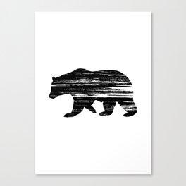 Bear Silouetthe Canvas Print