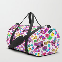 Seamless pattern with colorful retro elements 2 Duffle Bag