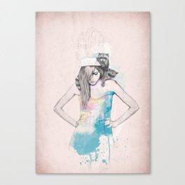 Raccoon Love Canvas Print