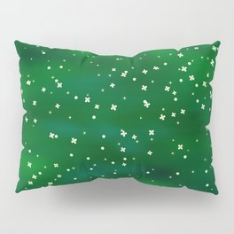 Green abstract background Pillow Sham