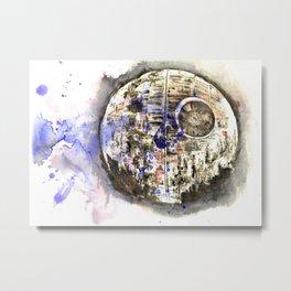 Star War Art Painting The Death Star Metal Print