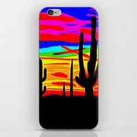 cacti iPhone & iPod Skins featuring Cacti by Relic X