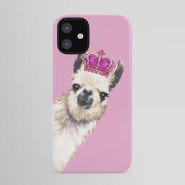 Llama Queen in Pink iPhone Case