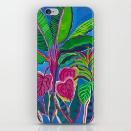 Banana Plant Print iPhone Skin