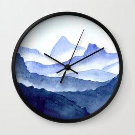 Foggy Mountains Wall Clock