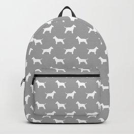 White Bull Terrier Silhouette Backpack