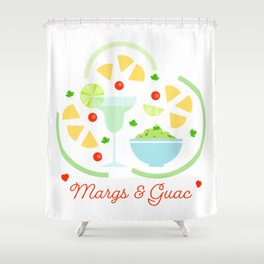 I love Margs and Guac Shower Curtain