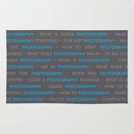 Blue Photography Keywords Marketing Concept Rug