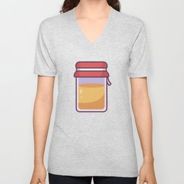Bee Honey Container Unisex V-Neck