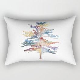 Fir Tree Acrylic Painting Rectangular Pillow