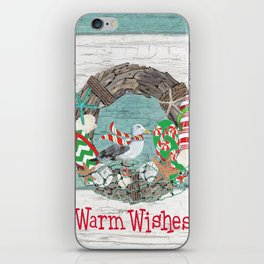 Coastal Christmas iPhone Skin