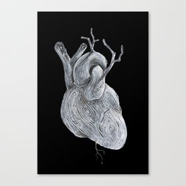 driftwood heart Canvas Print