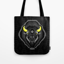 Geometric Bison Tote Bag