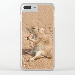 Prairie Dog Snack Time Clear iPhone Case