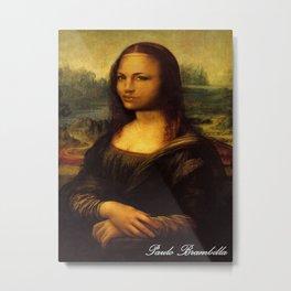 Monalisa Jolie Metal Print
