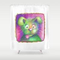puppy Shower Curtains featuring Puppy by Chris Winn