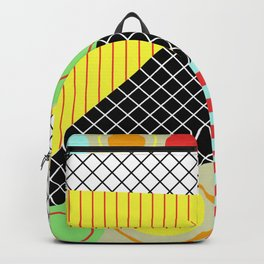 Mid Century Abstract Pastel Art Backpack