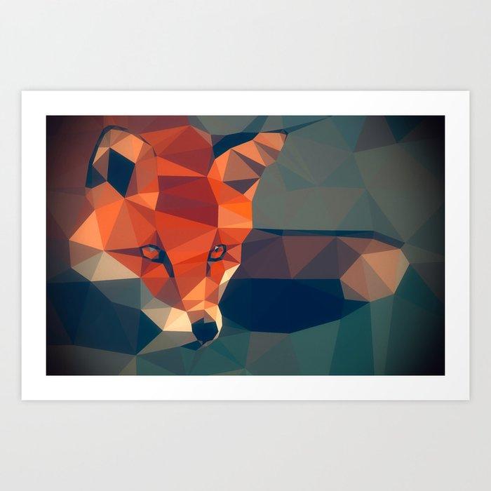 Triangular fox Art Print