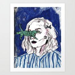 Absurdist Noora from Skam Art Print