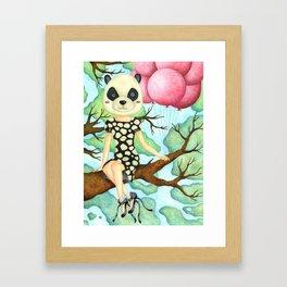 Panda Girl Framed Art Print