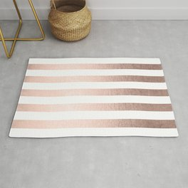 Simply Striped Moon Dust Bronze Rug