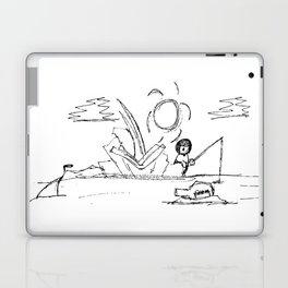 Man at Lost Island ArtLine Style Laptop & iPad Skin