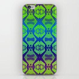African Vintage Fabric Green Tone Gradient iPhone Skin