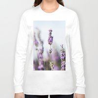 lavender Long Sleeve T-shirts featuring Lavender by Julia Dávila-Lampe