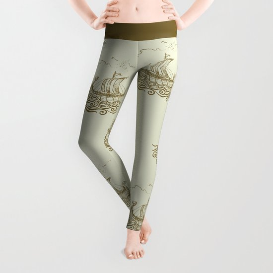 Viking ship Leggings