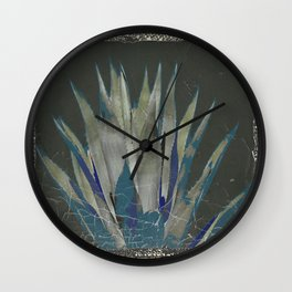 GRUBBY GREY ANTIQUE AGAVE CACTUS PIC Wall Clock