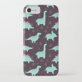 Funny dinosaurs iPhone Case