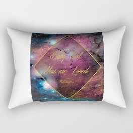 Baby Girl, You Are Loved. Galaxy Diamond Rectangular Pillow