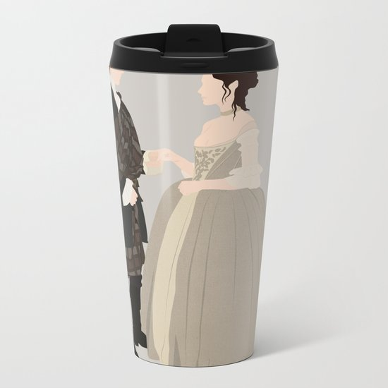 Outlander, Jamie and Claire Metal Travel Mug