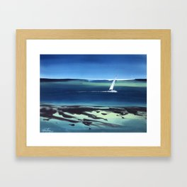 Not Worried Atoll Framed Art Print