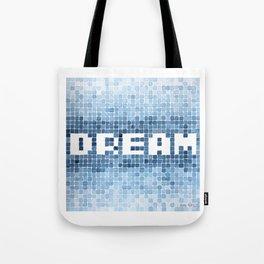 Dream watercolor mosaic typography Tote Bag