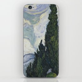 Wheatfield with Cypresses iPhone Skin
