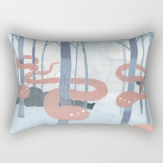Snakes in the Forest Rectangular Pillow