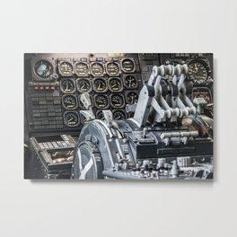 Boeing 747 cockpit Metal Print