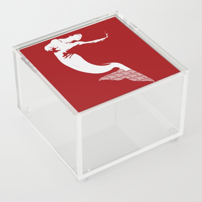 Merman - Red & White - Mermay 2019 Acrylic Box