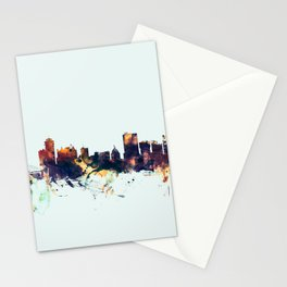 Winnipeg Canada Skyline Stationery Cards