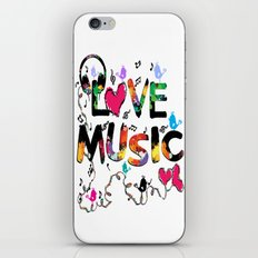 LOVE MUSIC iPhone & iPod Skin