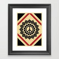 Peace Mandala Framed Art Print