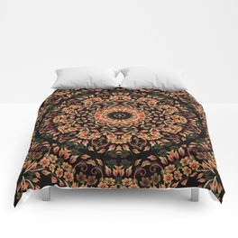 Ombre Floral Mandala Comforters