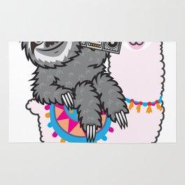 Sloth Music Llama Rug