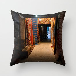 Moroccan Alleyway Throw Pillow
