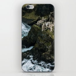 Castle ruin by the irish sea - Landscape Photography iPhone Skin