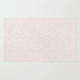 Persimmon Hitomezashi Sashiko - Red on White Rug